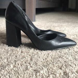 Shoes - Black Pump Block Heels